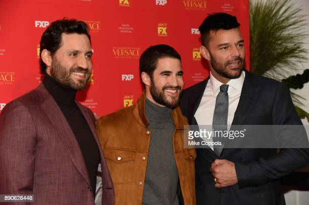 Edgar Ramirez Ricky Martin and Darren Criss attend 'The Assassination Of Gianni Versace American Crime Story' New York Screening at Metrograph on...