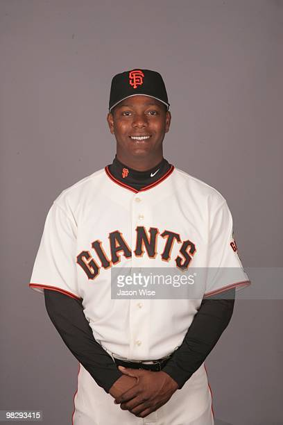 Edgar Renteria of the San Francisco Giants poses during Photo Day on Sunday February 28 2010 at Scottsdale Stadium in Scottsdale Arizona