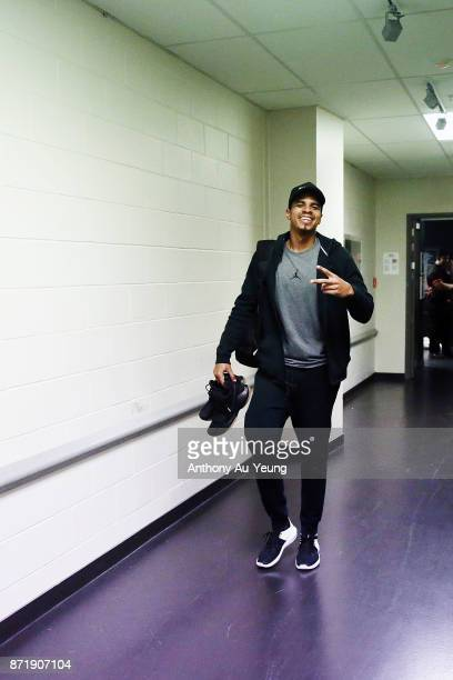 Edgar Sosa of the Breakers arrives at the venue prior to the round six NBL match between the New Zealand Breakers and the Perth Wildcats at Spark...