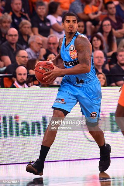 Edgar Sosa of the Breakers dribbles the ball during the round five NBL match between the Cairns Taipans and the New Zealand Breakers at Cairns...