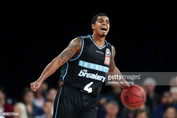 Edgar Sosa of the Breakers in action during the round three NBL match between the New Zealand Breakers and the Sydney Kings at Spark Arena on October...