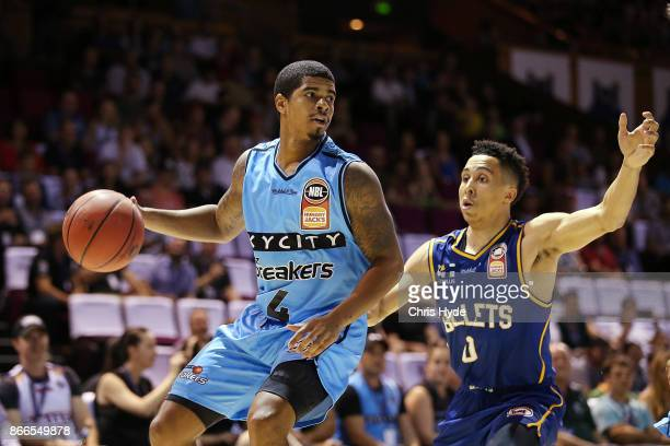 Edgar Sosa of the Breakers looks to pass during the round four NBL match between the Brisbane Bullets and the New Zealand Breakers at Brisbane...
