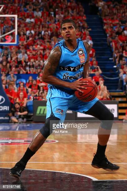 Edgar Sosa of the Breakers looks to put a shot up during the round six NBL match between the Perth Wildcats and the New Zealand Breakers at Perth...