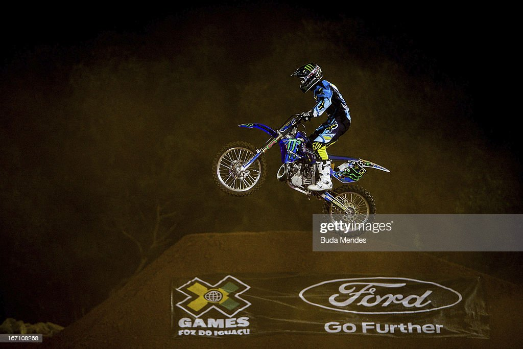 Edgar Torronteras in action during Moto X Best Whip at the X Games on April 19, 2013 in Foz do Iguacu, Brazil.