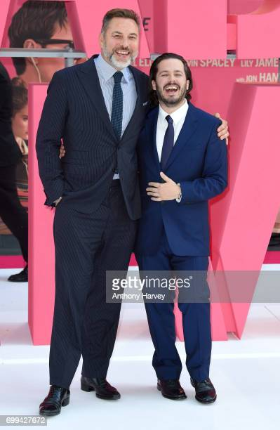 Edgar Wright and David Williams attend the European premiere of 'Baby Driver' on June 21 2017 in London United Kingdom