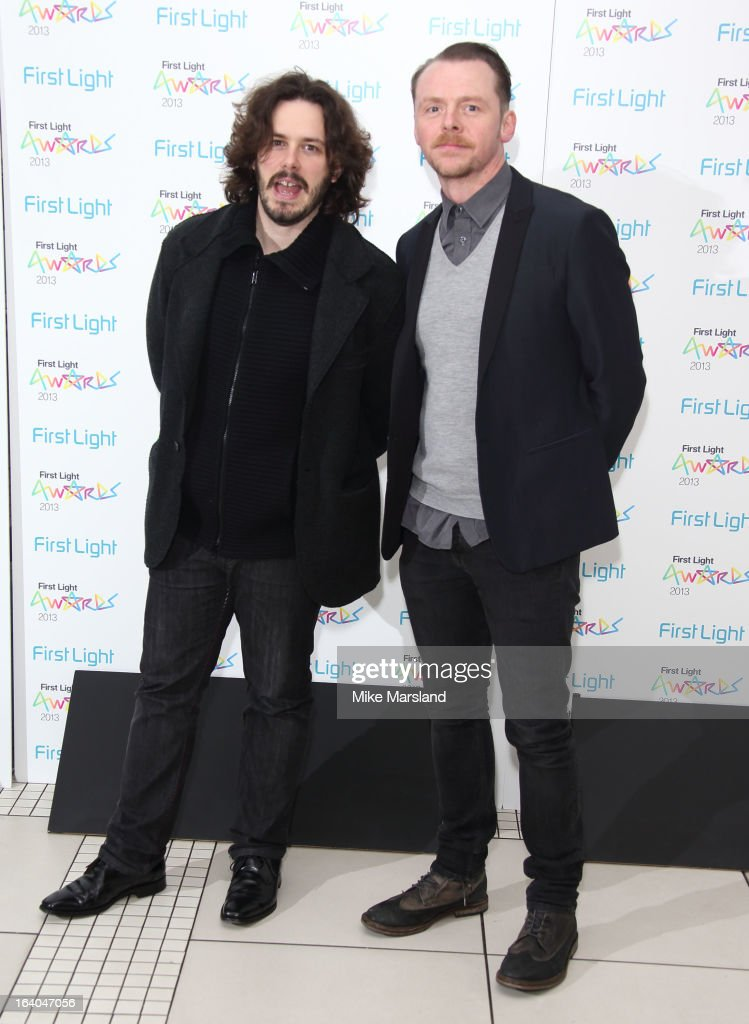 Edgar Wright and Simon Pegg attend the First Light Awards at Odeon Leicester Square on March 19, 2013 in London, England.