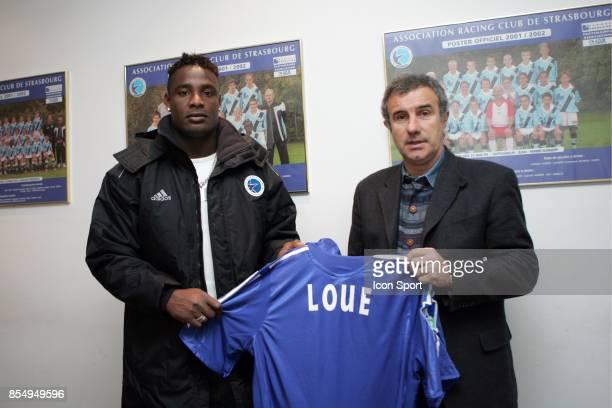 Edgard LOUE signe au RC Strasbourg Strasbourg