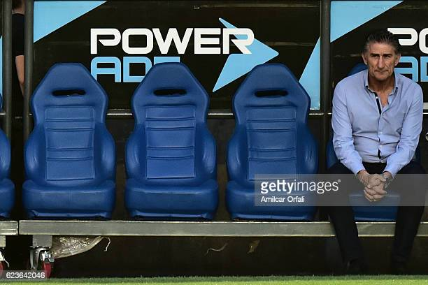 Edgardo Bauza coach of Argentina poses prior a match between Argentina and Colombia as part of FIFA 2018 World Cup Qualifiers at Bicentenario de San...