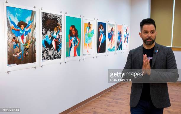Edgardo MirandaRodriguez writer and creator of the bestselling graphic novel La Borinquenatalks about his project during an interview at the Casita...
