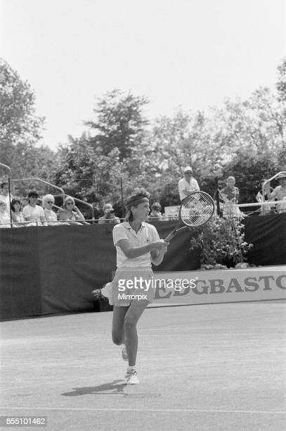 Edgbaston Cup at the Edgbaston Priory Club in Birmingham England 11th to 17th June 1984 Our picture shows Anne White in action Women's Singles Final...