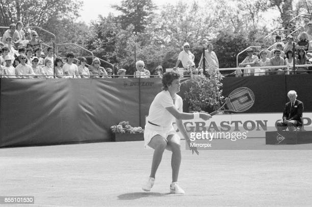 Edgbaston Cup at the Edgbaston Priory Club in Birmingham England 11th to 17th June 1984 Our picture shows Pam Shriver in action Women's Singles Final...