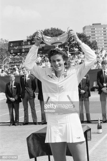 Edgbaston Cup at the Edgbaston Priory Club in Birmingham England 11th to 17th June 1984 Our picture shows Pam Shriver wins Women's Singles Final...