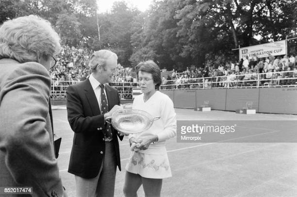 Edgbaston Cup inaugural event at the Edgbaston Priory Club in Birmingham England 7th to 13th June 1982 our picture shows Billie Jean King v Rosalyn...