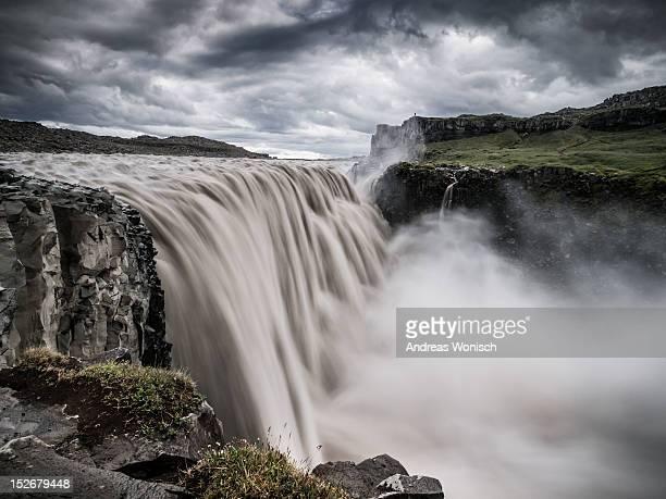 Edge of Dettifoss waterfall