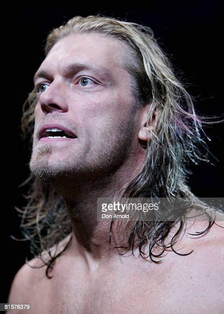 Edge participates in the WWE Smackdown at Acer Arena June 15 2008 in Sydney Australia