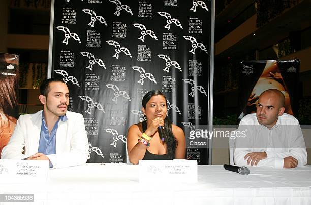 Edher Campos Monica del Carmen and Rodrigo Bello during a press conference of the Mexican film Leap Year as part of the second international film...