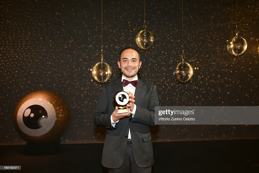Edher Campos poses with the 'International Feature Film' award on October 5, 2013 in Zurich, Switzerland.