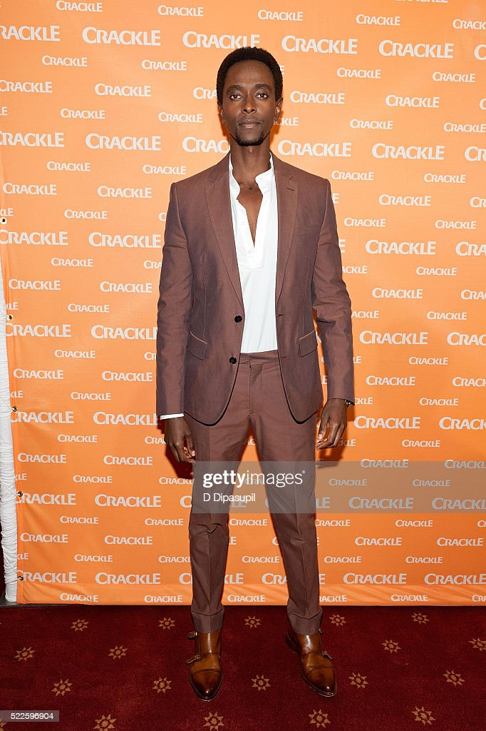 Edi Gathegi attends Crackle's 2016 Upfront Presentation at New York City Center on April 20 2016 in New York City