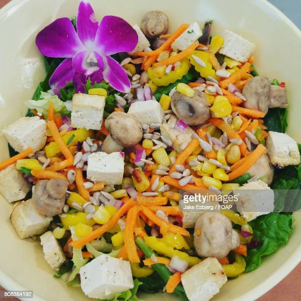 Edible orchid summer salad