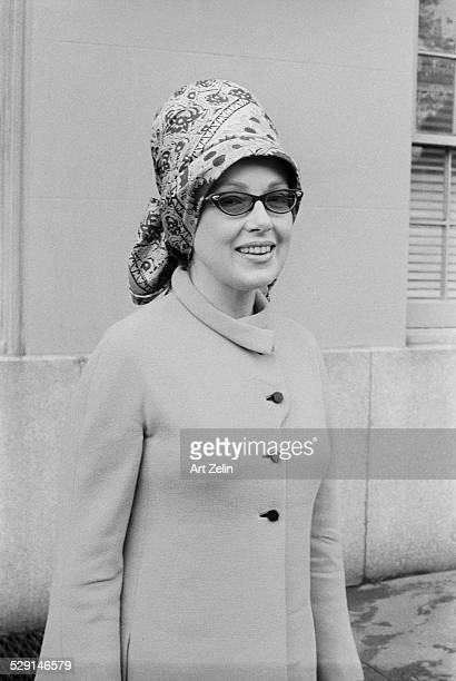 Edie Adams wearing a turban circa 1970 New York