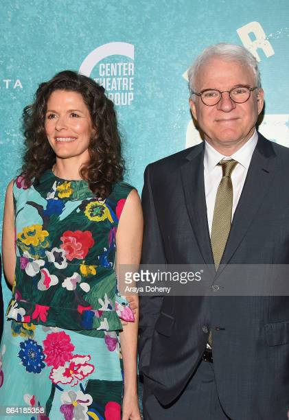 Edie Brickell and Steve Martin attend the opening night of 'Bright Star' at Ahmanson Theatre on October 20 2017 in Los Angeles California