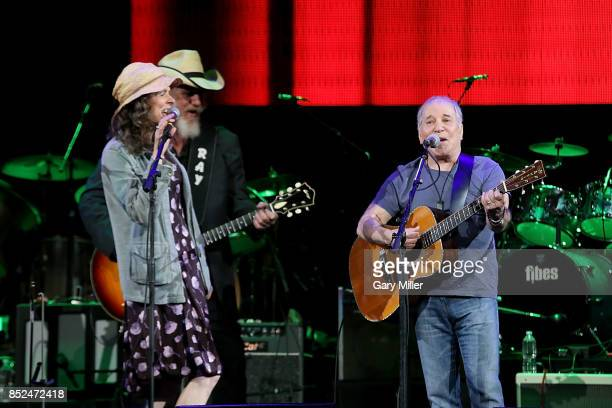 Edie Brickell Ray Benson and Paul Simon perform in concert during the 'Texas Strong Hurricane Harvey Can't Mess With Texas' benefit at The Frank...