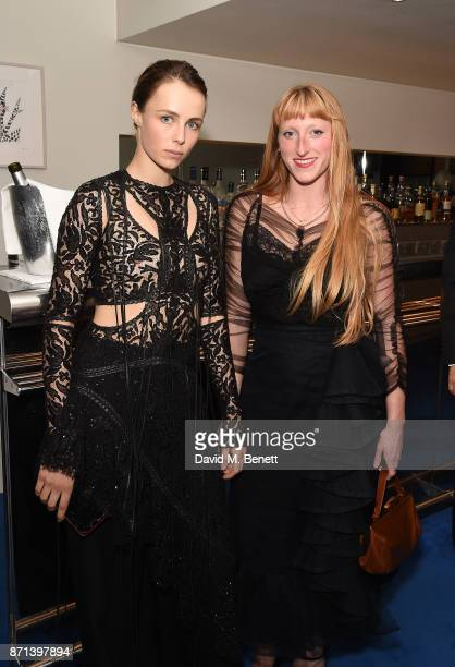 Edie Campbell and Molly Goddard attend a dinner hosted by Jonathan Newhouse and Albert Read for Edward Enninful to celebrate the December issue of...