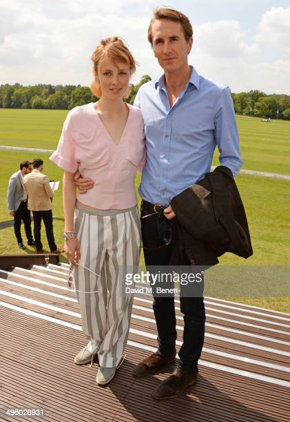 Edie Campbell and Otis Ferry attend day two of the Audi Polo Challenge at Coworth Park Polo Club on June 1 2014 in Ascot England