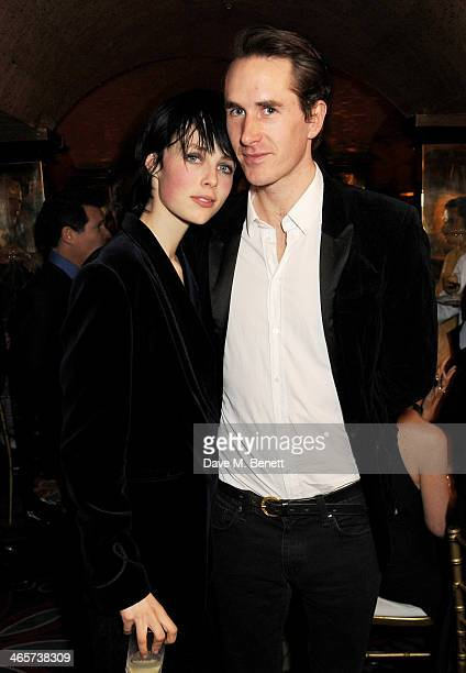Edie Campbell and Otis Ferry attend the Charles Finch and Chanel PreBAFTA cocktail party and dinner at Annabel's on February 8 2013 in London England