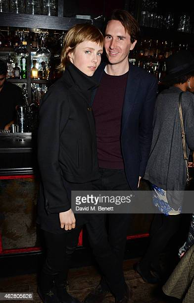 Edie Campbell and Otis Ferry attend the Oh My Love PreLFW Disco at The Scotch of St James on February 5 2015 in London England