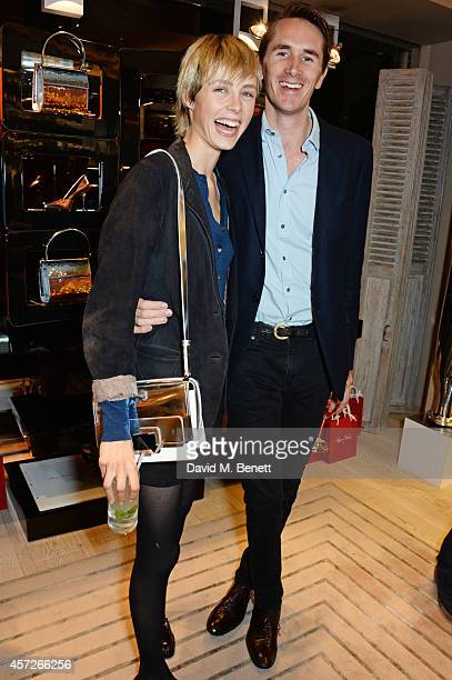 Edie Campbell and Otis Ferry attend the Roger Vivier 'The Perfect Pair' Frieze cocktail celebrating Ambra Medda 'Miss Viv' at the Roger Vivier...