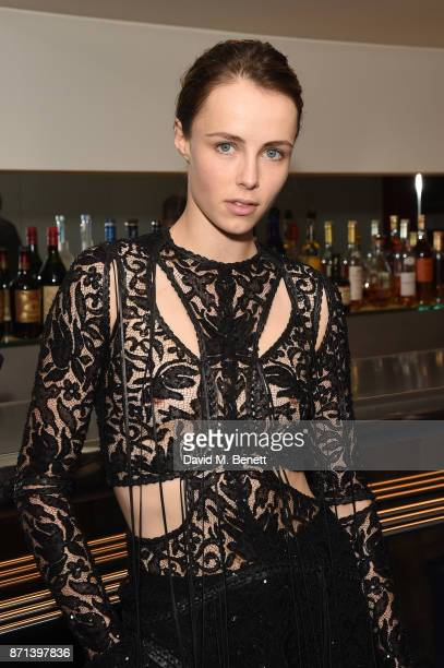 Edie Campbell attends a dinner hosted by Jonathan Newhouse and Albert Read for Edward Enninful to celebrate the December issue of British Vogue at...