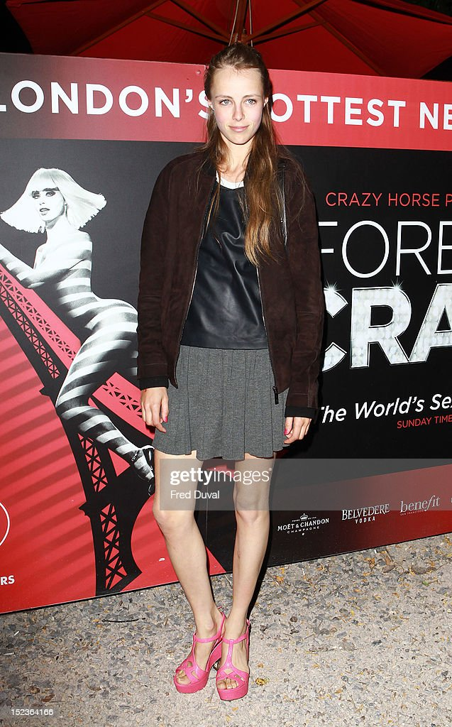 Edie Campbell attends as Crazy Horse bring their renowned cabaret show from Paris to London at The Crazy Horse on September 19, 2012 in London, England.