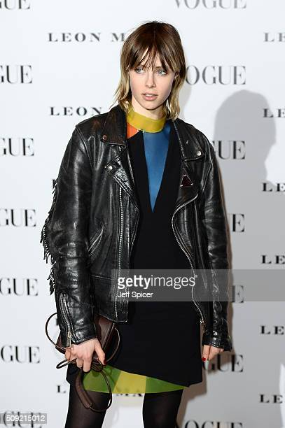 Edie Campbell attends at Vogue 100 A Century Of Style at the National Portrait Gallery on February 9 2016 in London England