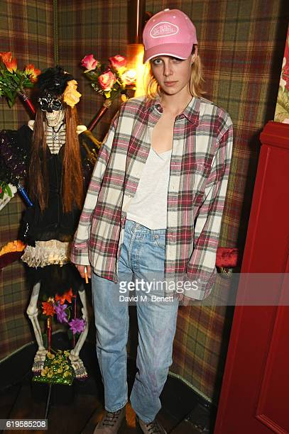 Edie Campbell attends Fran Cutler's Halloween Party supported by Belvedere Vodka at Albert's Club on October 31 2016 in London England