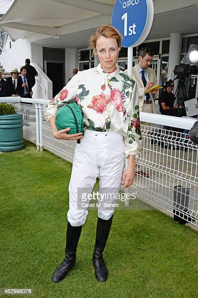 Edie Campbell attends Glorious Goodwood Ladies Day at Goodwood on July 31 2014 in Chichester England
