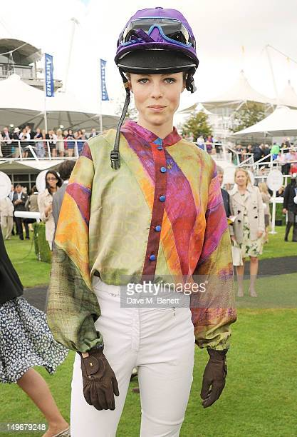 Edie Campbell attends Ladies Day at Glorious Goodwood held at Goodwood Racecourse on August 2 2012 in Chichester England