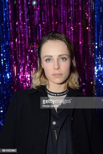 Edie Campbell attends the Burberry x Cara Delevingne Christmas Party on December 2 2017 in London England