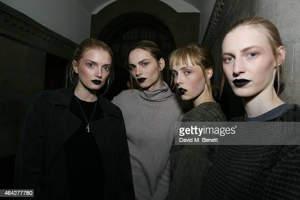 Edie Campbell attends the GILES show during London Fashion Week Fall/Winter 2015/16 at Central Saint Martins on February 23 2015 in London England