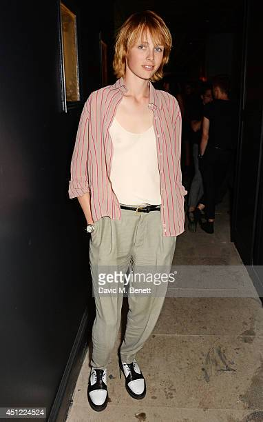 Edie Campbell attends the grand opening of LIBRARY on June 25 2014 in London England