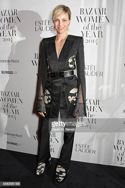 Edie Campbell attends the Harper's Bazaar Women Of The Year awards 2014 at Claridge's Hotel on November 4 2014 in London England