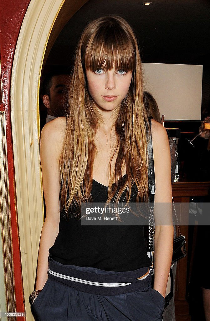 Edie Campbell attends the launch of Bryan Ferry's new album 'The Jazz Age' at Annabels on November 22, 2012 in London, England.