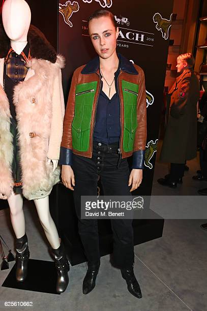 Edie Campbell attends the launch of Coach House Regent Street on November 24 2016 in London England