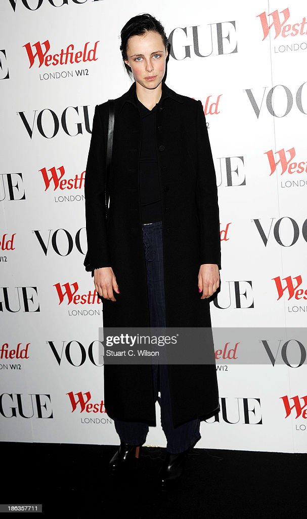 Edie Campbell attends the launch of the Vogue Pop Up Club as part of Westfield London's 5th birthday celebrations at Westfield on October 30, 2013 in London, England.