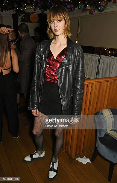 Edie Campbell attends the LOVE Christmas party at George on December 18 2015 in London England