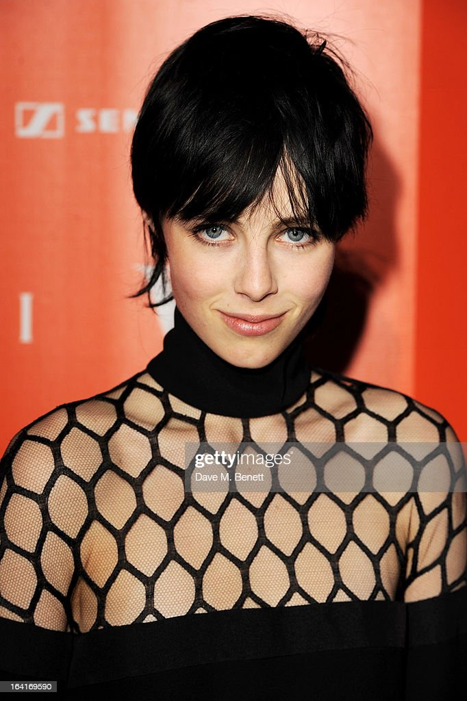 Edie Campbell attends the private view for the 'David Bowie Is' exhibition in partnership with Gucci and Sennheiser at the Victoria and Albert Museum on March 20, 2013 in London, England.