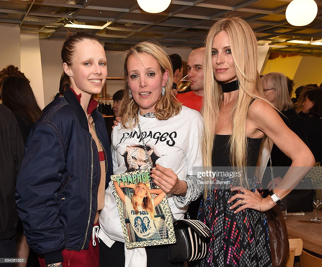 <a gi-track='captionPersonalityLinkClicked' href=/galleries/search?phrase=Edie+Campbell&family=editorial&specificpeople=6554506 ng-click='$event.stopPropagation()'>Edie Campbell</a>, <a gi-track='captionPersonalityLinkClicked' href=/galleries/search?phrase=Bay+Garnett&family=editorial&specificpeople=239485 ng-click='$event.stopPropagation()'>Bay Garnett</a> and <a gi-track='captionPersonalityLinkClicked' href=/galleries/search?phrase=Laura+Bailey+-+Model&family=editorial&specificpeople=202040 ng-click='$event.stopPropagation()'>Laura Bailey</a> attend a party hosted by <a gi-track='captionPersonalityLinkClicked' href=/galleries/search?phrase=Bay+Garnett&family=editorial&specificpeople=239485 ng-click='$event.stopPropagation()'>Bay Garnett</a> to celebrate the launch of her latest project 'Fanpages' enjoying Perrier-Jot at Dover Street Market on May 25, 2016 in London, England.