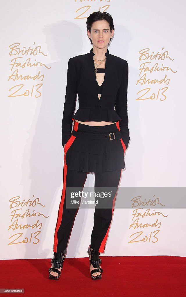 Edie Campbell poses in the winners room at the British Fashion Awards 2013 at London Coliseum on December 2, 2013 in London, England.