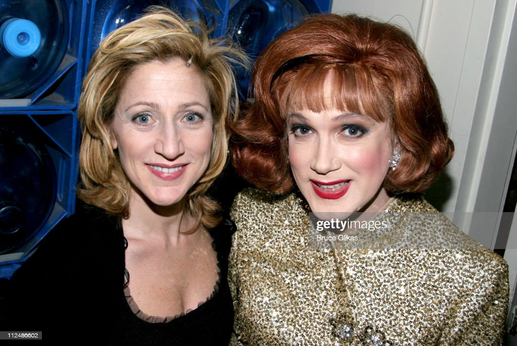 Edie Falco and Charles Busch during 'Nothing Like A Dame' 2005 Benefit at The Marquis Theater in New York City NY United States