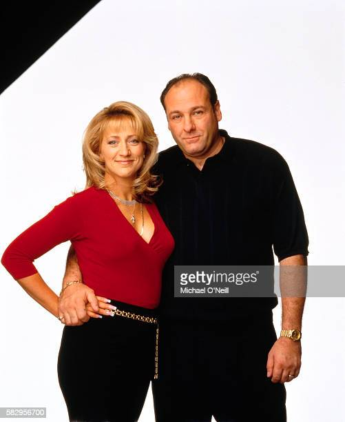 Edie Falco and James Gandolfini